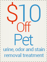 $10 off - Pet Odor/Stain Treatment